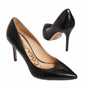 Sam Edelman Hazel Black Leather Pump Heels 7